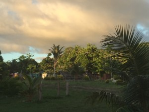 Mangaliliu Village at sunset