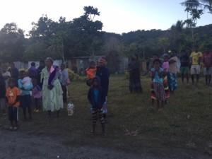 Waving goodbye Mangaliliu Village